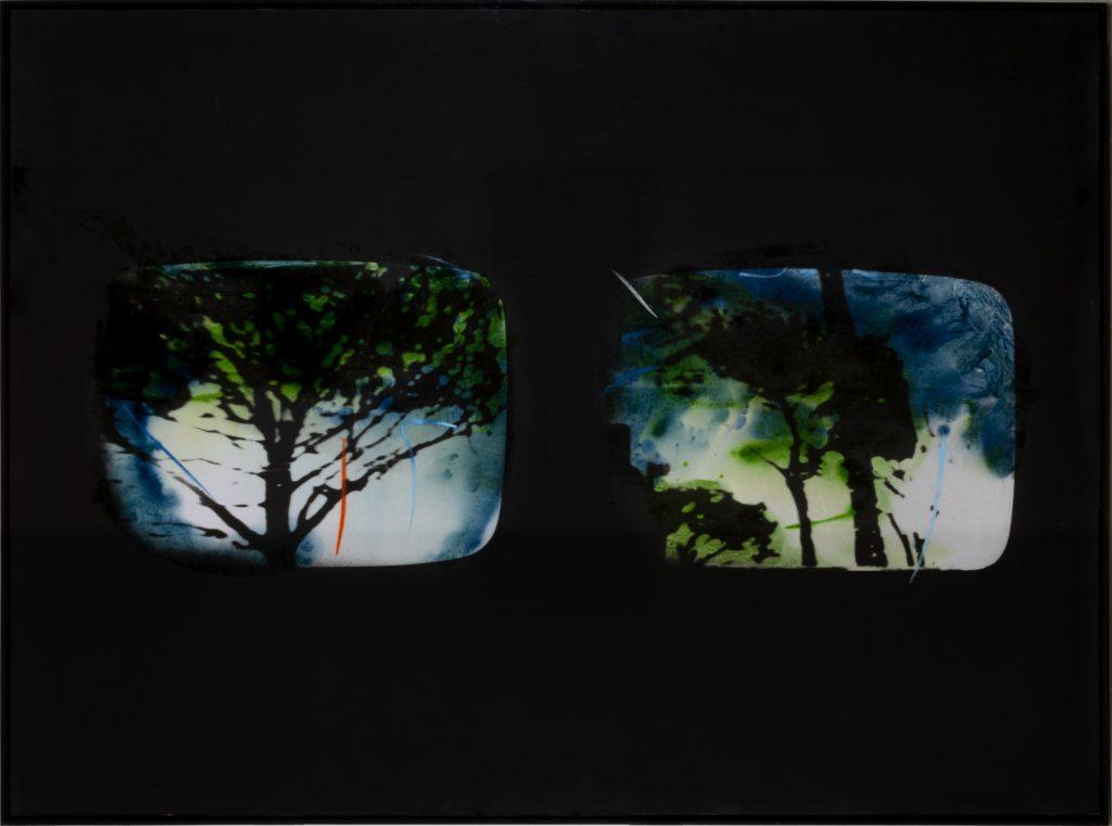 Schifano, Inventario, Smalto su tela emulsionata, cm 115x160, 1973-74 AR TIF